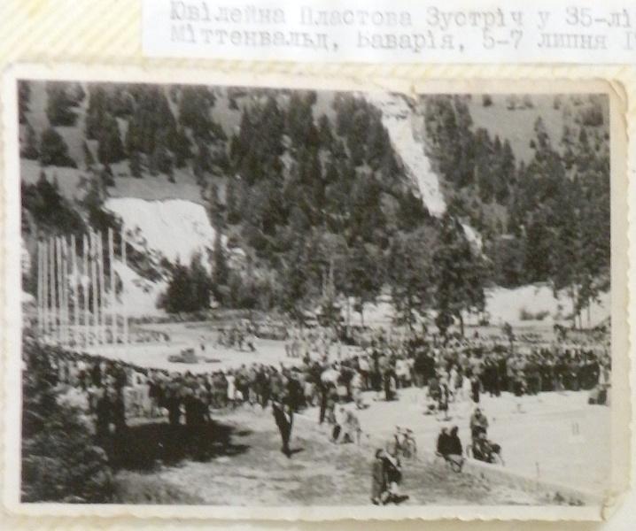Ювілейна Пластова Зустріч, 35-ліття Пласту, Міттенвальд, Баварія, 5-7 липня 1947
