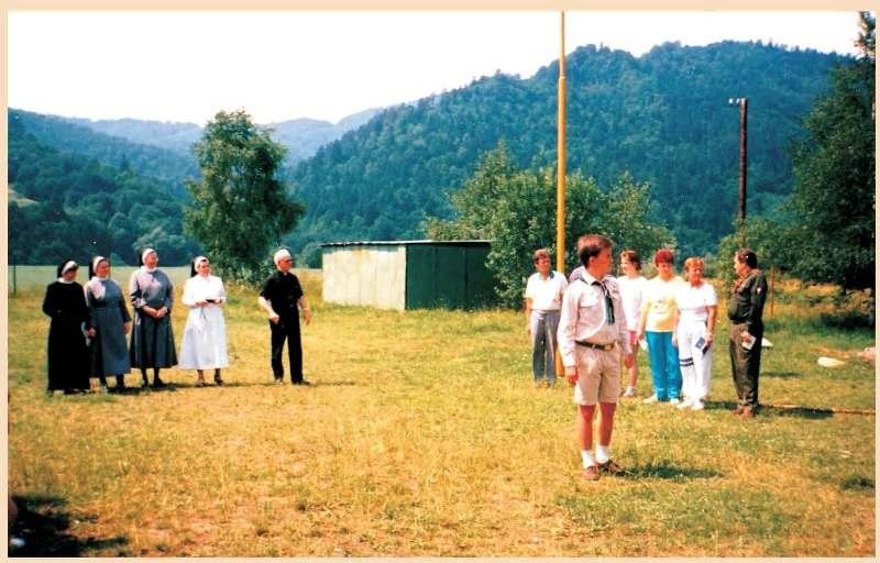 Табір відвідали сестри Василиянки. 1998 р.