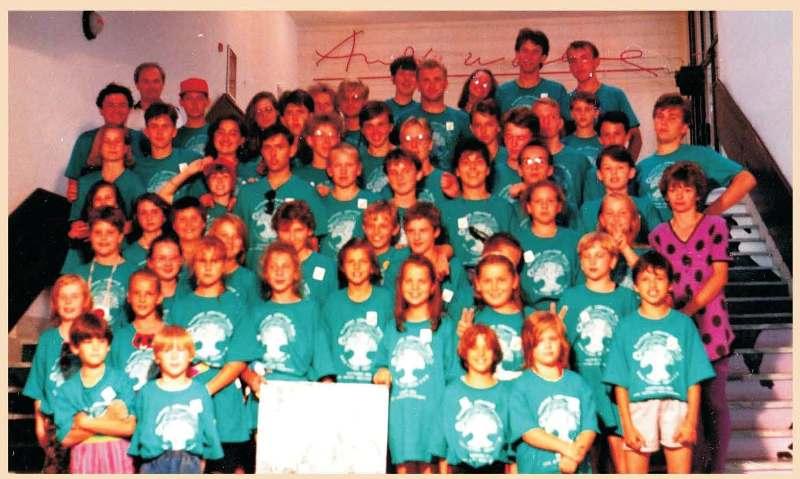 Учасники табору «Карпати» відвідали Музей «Енді Варгола» (Андрія Вархоли) в місті Меджилабірці, 1994 р.