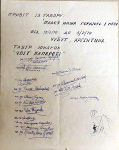 Привіт з таборів в Аргентині