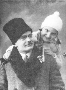 Василь Гренджа-Донський з дочкою