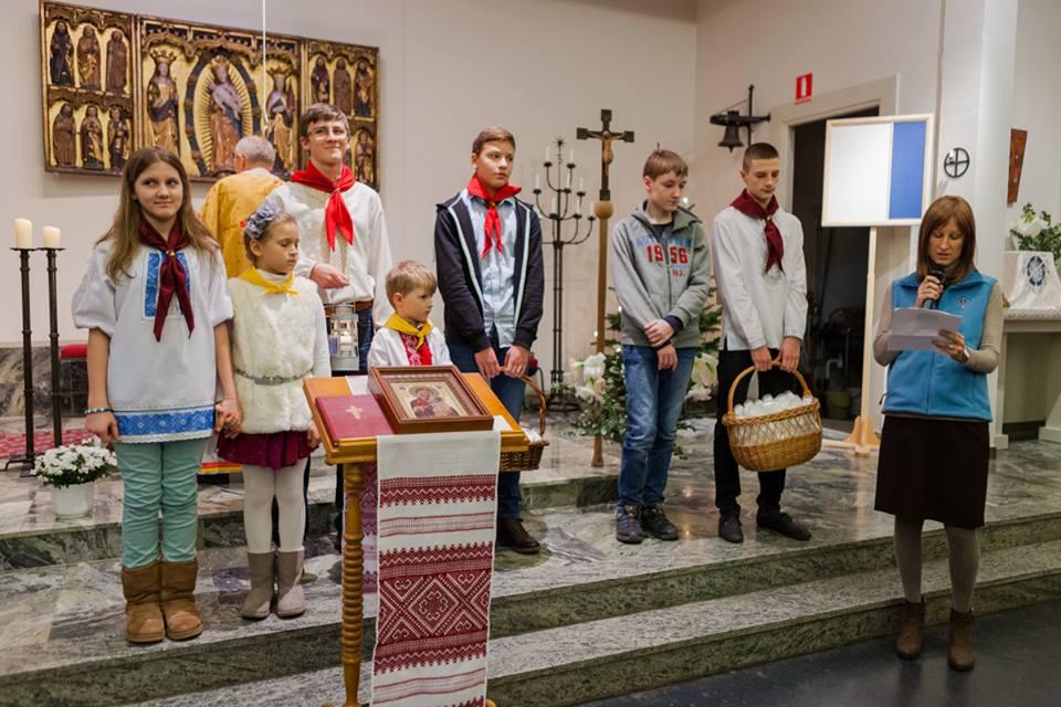 Передача Вифлеємського Вогню українцям у Стокгольмі, 4 січня 2015