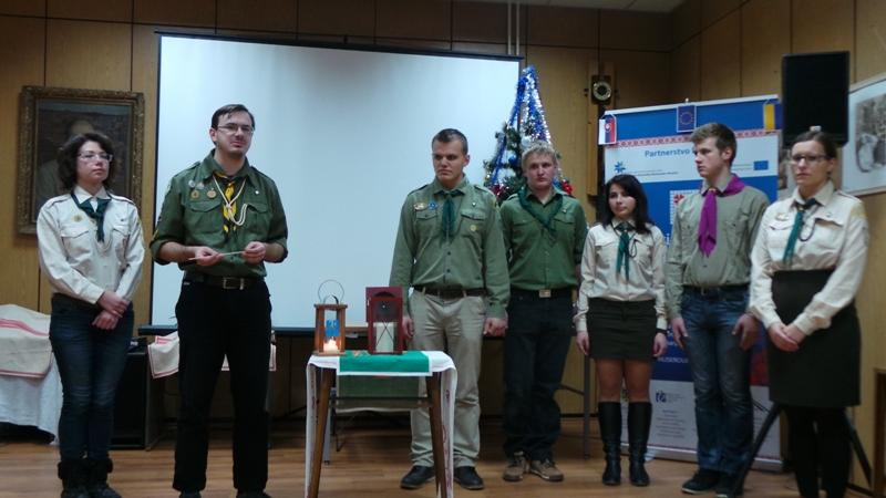 Передача Вифлеємського Вогню українцям Словаччини, Пряшів, 23 грудня 2014