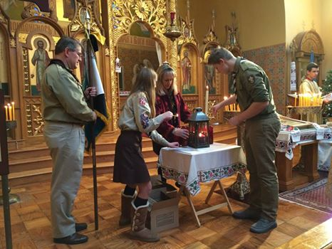 Вифлеємський Вогонь отримала Українська громада в Бостоні
