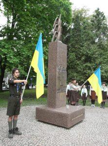 Відриття пам'ятника жертвам політичних репресій, Ужгород, 15 травня 2010 р.