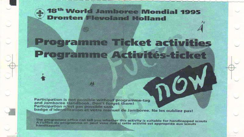Квиток на активітет-Світового Джемборі в Нідерландах 1995 рік