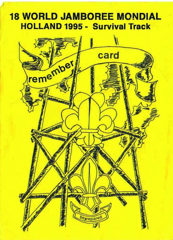 Квиток учасника Світового Джемборі в Нідерландах, 1995 рік