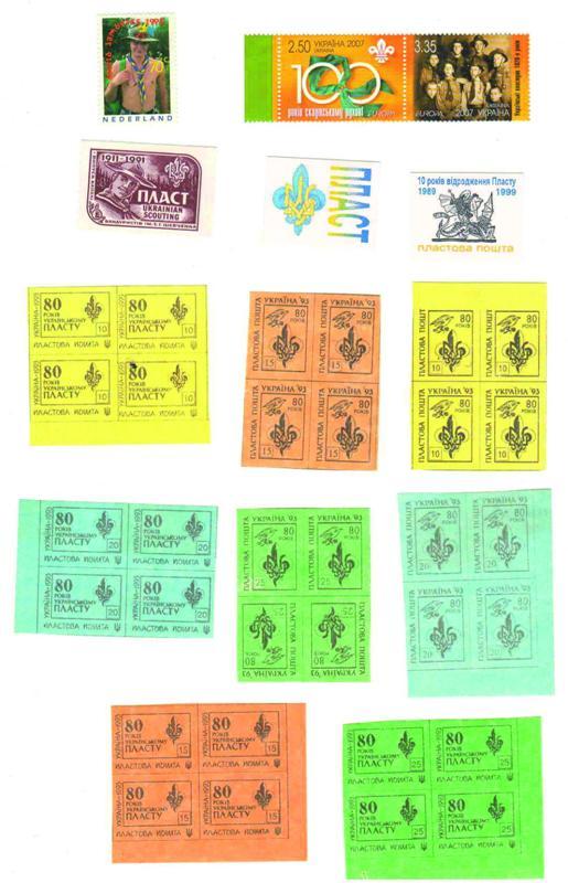 Різні пластові марки