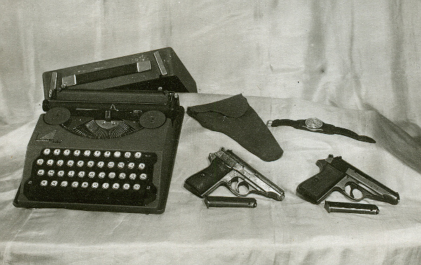 Друкарська машинка, зброя