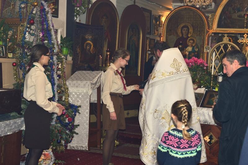 Передача Вифлеємського вогню миру у каплиці св. Миколая у Празі