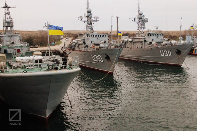 Українські кораблі в Донузлаві. Фото: Віктор Гурняк, Insider