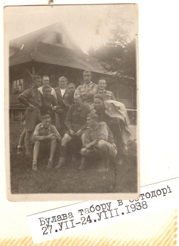 Булава табору в Остодорі, 27 липня - 24 серпня 1938