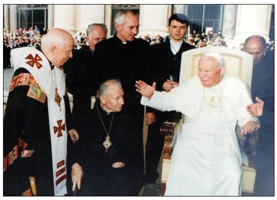 На зустрічі з папою Римським Іваном Павлом ІІ
