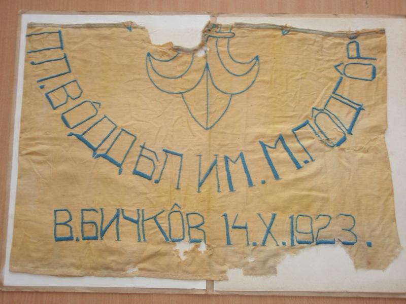 Частина прапору пластового відділу ім. Марійки Підгірянки у Великому Бичкові