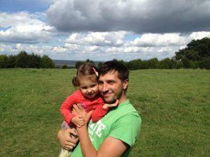 Віктор з дочкою