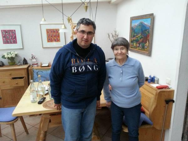 Ірина Козак та журналіст Вахтанг Кіпіані
