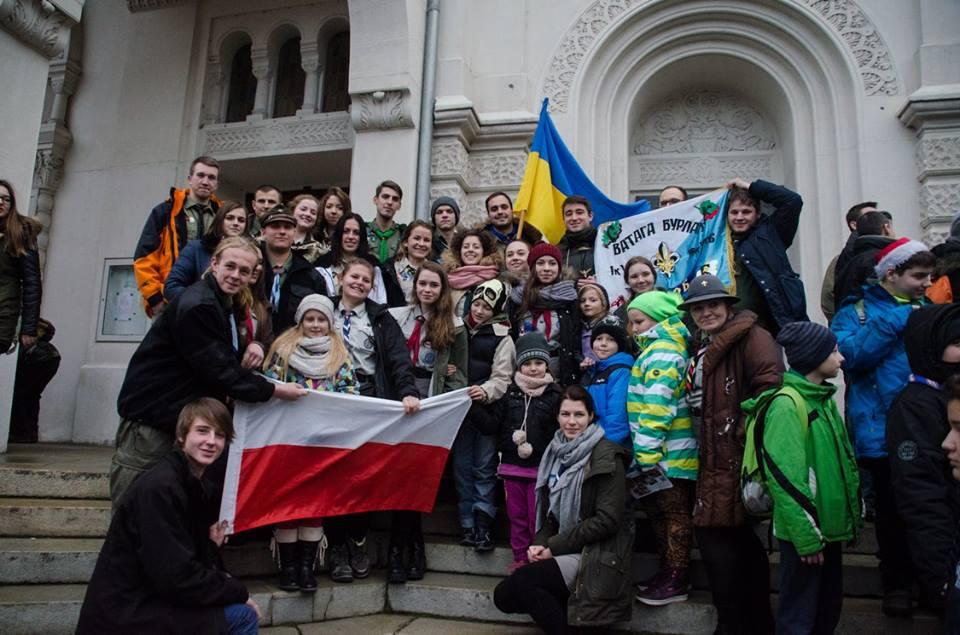 Пласту отримали Вифлеємський Вогонь Миру, Відень, 12 грудня 2015