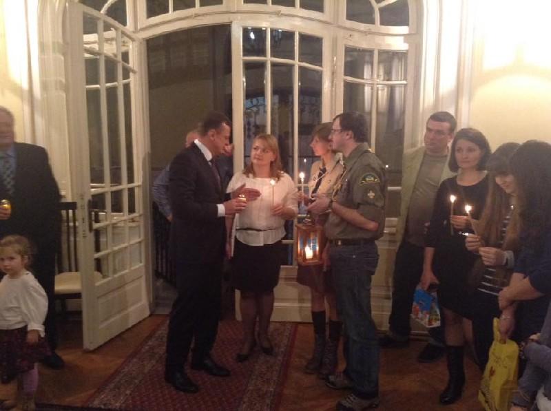 Вифлеємський Вогонь у Посольстві України в Бухаресті