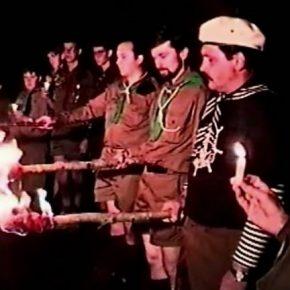 """Пластова Присяга під час табору """"Золота Булава"""" на оселі """"Батурин"""", Канада, 1990"""