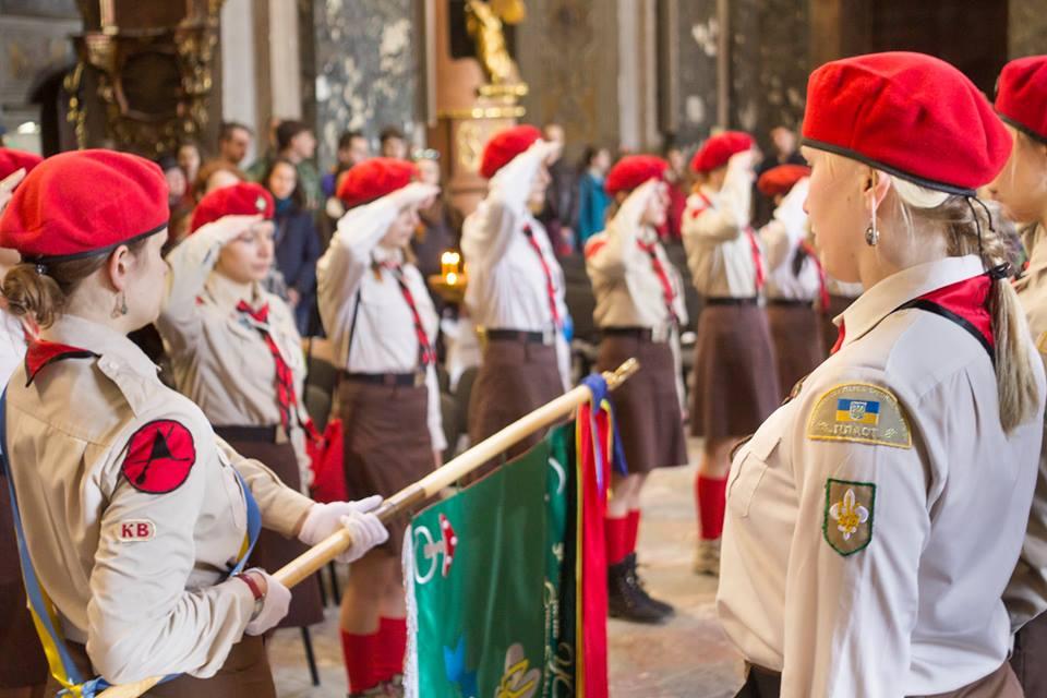 Посвячення прапора куреня УСП Степові Відьми, Львів, 2 квітня 2016