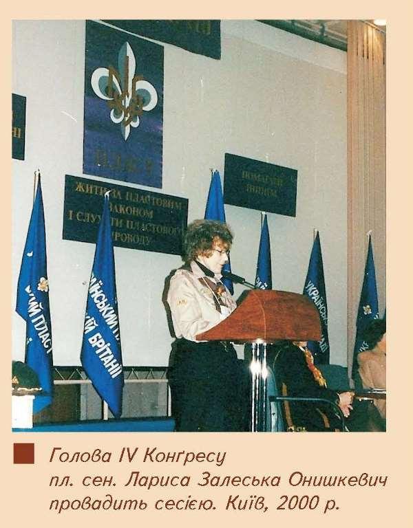 Голова 4 конгресу пл.сен. Лариса Залеська Онишкевич, Київ, 2000