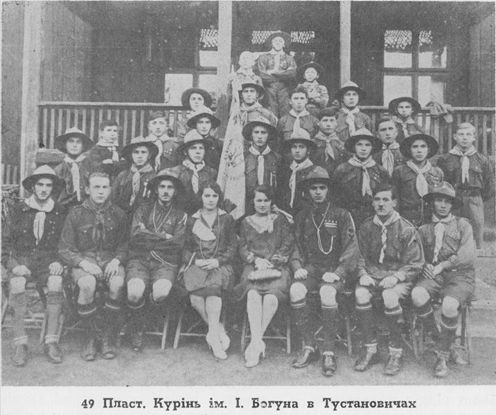 Освячення пластового прапору в Тустановичах в 1928 році