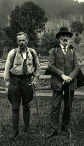 Степан Гайдучок і Йосиф Роздольський в Карпатах (1928)