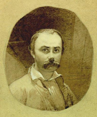 Тарас Шевченко, автопортрет. Оренбург, 29 листопада 1849