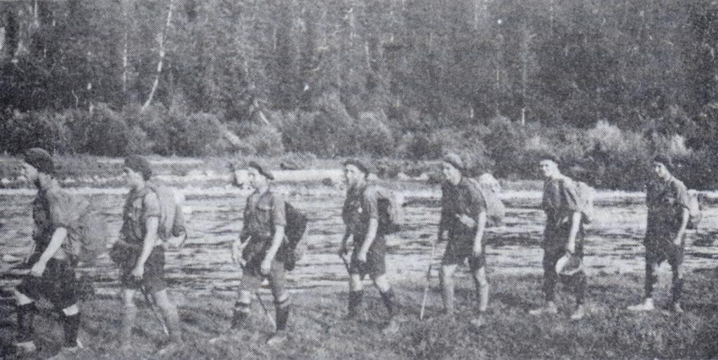 """Гурток """"Тури"""" на мандрівці, 1925"""