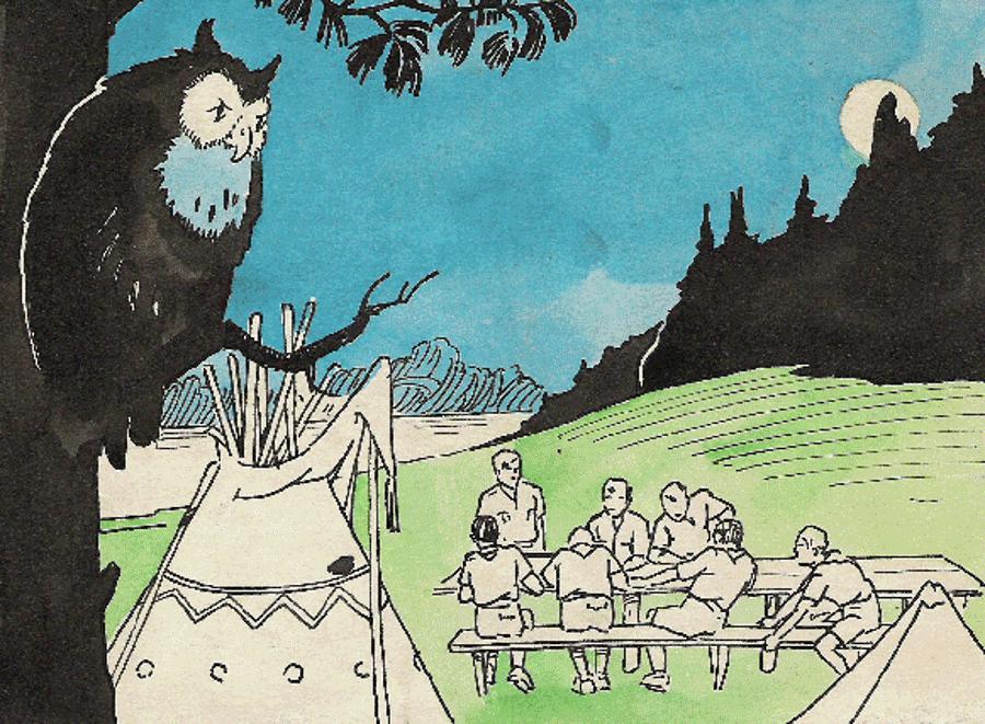 Починав як редактор та ілюстратор пластового часопису в Чехословаччині