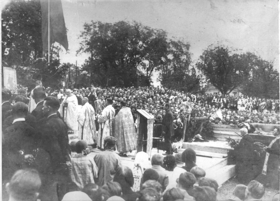 1936 рік. Візит митрополита Андрея Шептицького до Калуша
