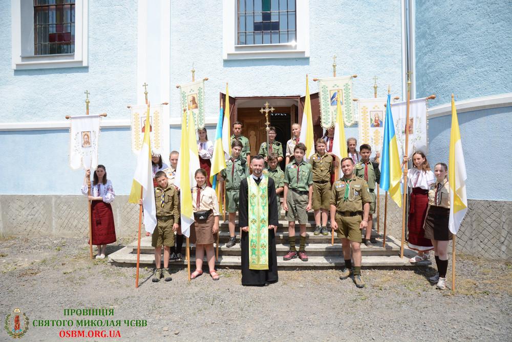 Закарпатські пластуни взяли участь в Архієрейській Літургії з нагоди свята Зіслання Святого Духа