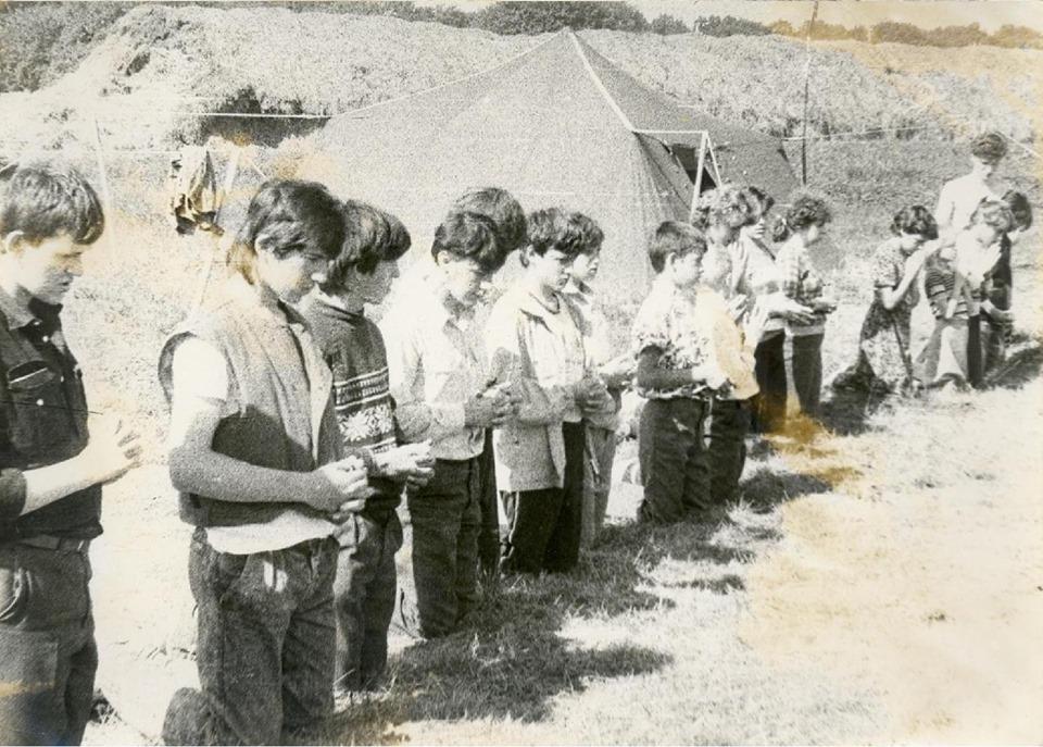 Свята Літургія в пластовому таборі