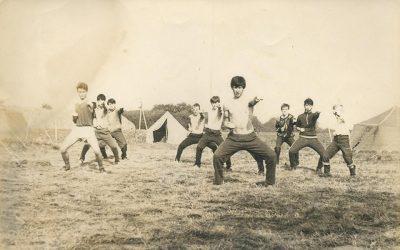 Фото з першого табору відновленого в Україні Пласту, 1989
