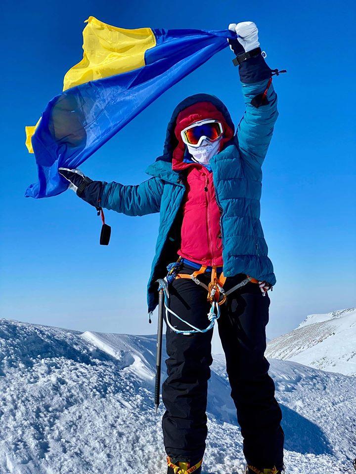 Оксана Літинська, пластунка, що зійшла на найвищу гору Антарктиди