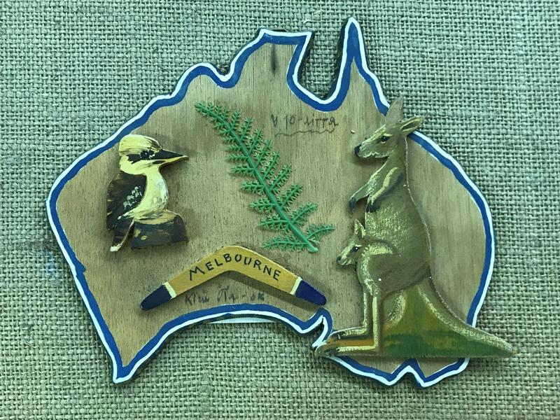 Листівка для Северина Левицького з нагоди 10-ліття Пласту в Мельбурні, Австралія
