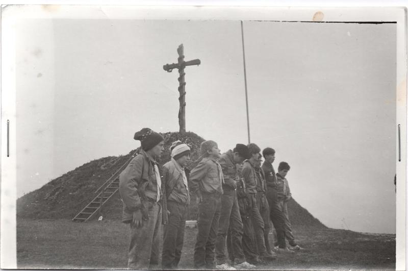 г. Лисоня, спільно з тернопільськими пластунами, листопад 1991