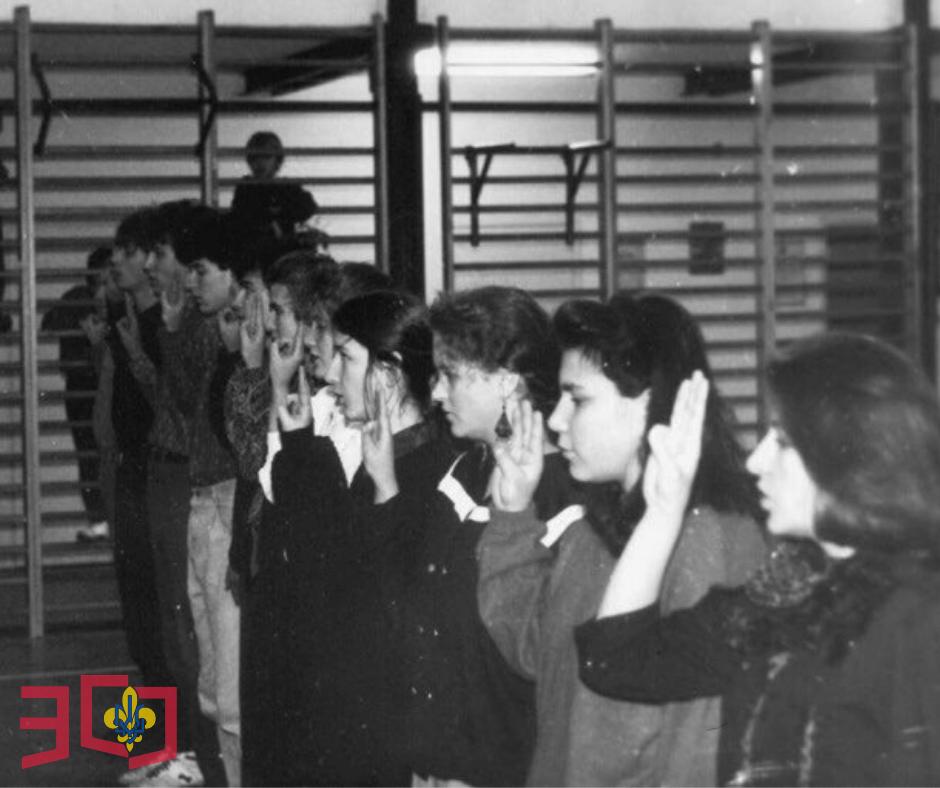 Грудень 1990 рік, Білий Бір зимовий виховно-вишкільний табір