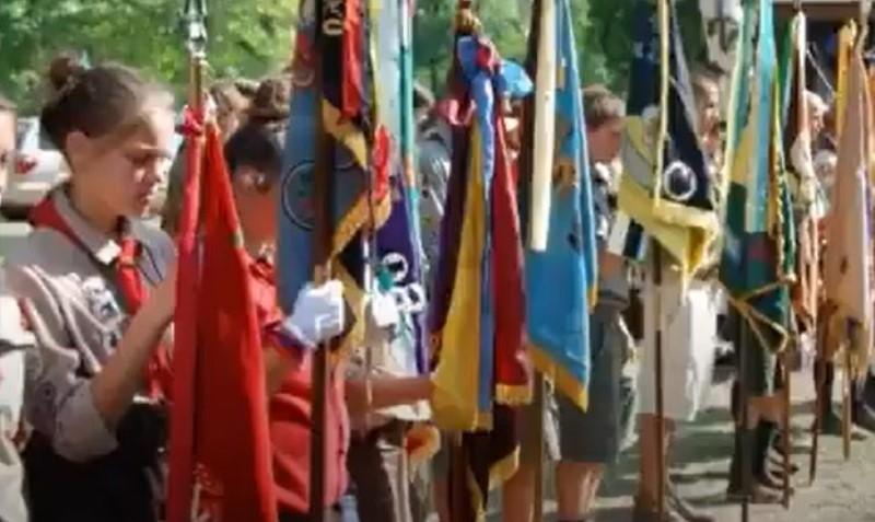 Кадр з відео історії Пласту в Пассейку