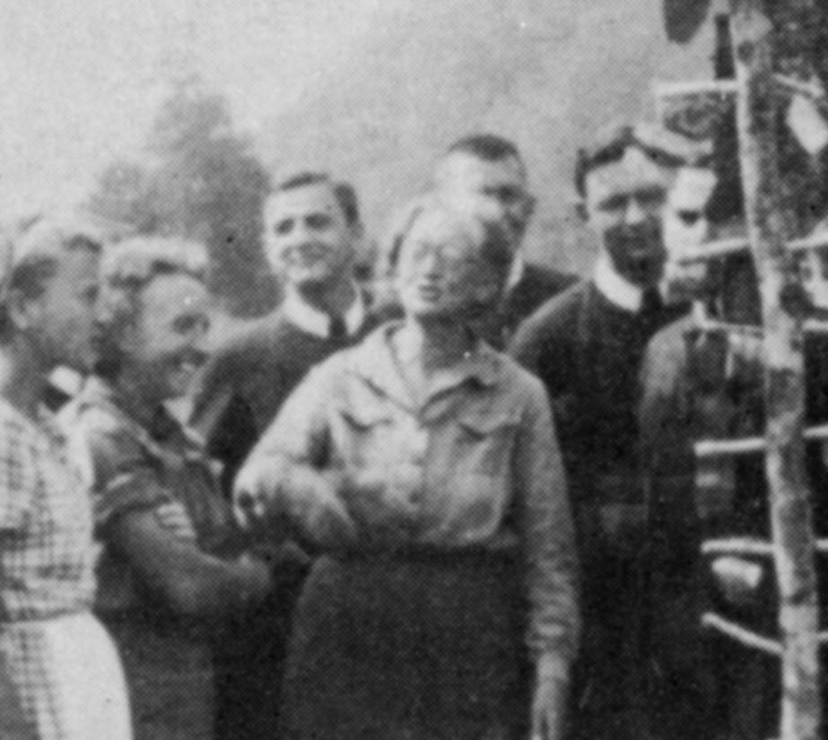 Анна Устіянович на таборі в Солочині, 1938